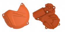 New KTM EXC 250 300 13 14 15 16 Clutch Ignition Cover Protector Combo Orange